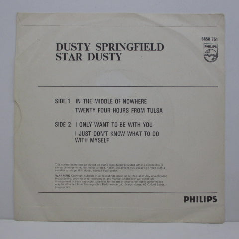 DUSTY SPRINGFIELD - Star Dusty (UK Orig.EP)