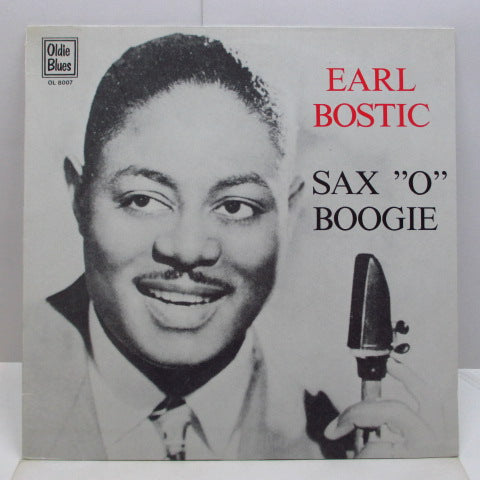 "EARL BOSTIC - Sax ""O"" Boogie (Dutch Orig.LP)"
