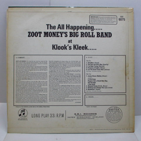 ZOOT MONEY'S BIG ROLL BAND - Zoot ! (UK Orig.Stereo/CFS)
