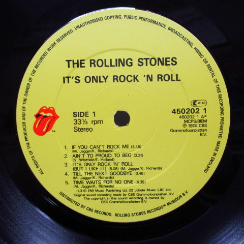 ROLLING STONES - It's Only Rock'n Roll (UK '86 Re LP/Barcode CVR)