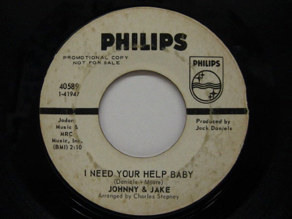 JOHNNY & JAKE - I Need Your Help Baby