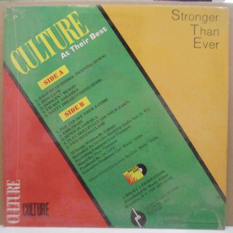 CULTURE - Stronger Than Ever At Their Best (US Orig.LP)