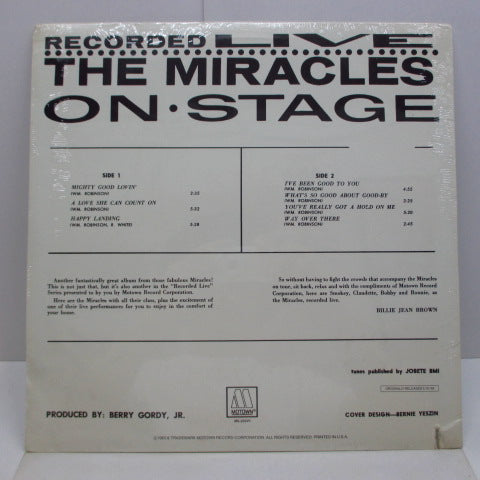 MIRACLES (SMOKEY ROBINSON & THE) - Recorded Live On Stage (US 80's Re Mono LP/Seald)