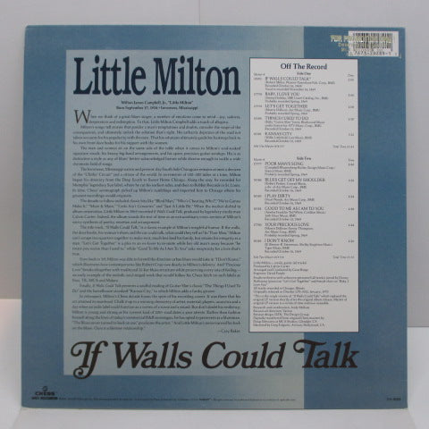 LITTLE MILTON - If Walls Could Talk (US:80's Re)