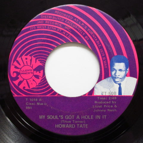 HOWARD TATE - It's Too Late / My Soul's Got A Hole In It