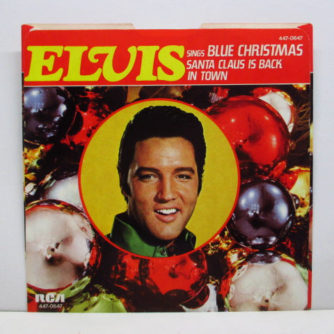 "ELVIS PRESLEY - Blue Christmas (US '77 Reissue 7""+PS)"