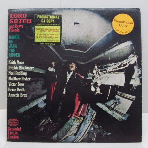 LORD SUTCH AND HEAVY FRIENDS - Hands Of Jack The Ripper (US Rare Promo LP/GS)