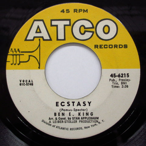 BEN E.KING - Ecstasy / Yes (US Orig.)