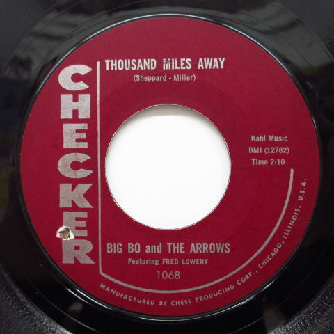 BIG BO & THE ARROWS(BIG BOB KORNEGAY) - I Done Got Over It (Orig.Maroon Label)