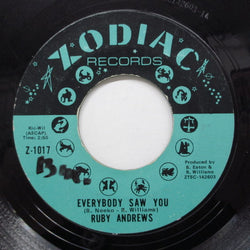RUBY ANDREWS - Everybody Saw You (Orig)