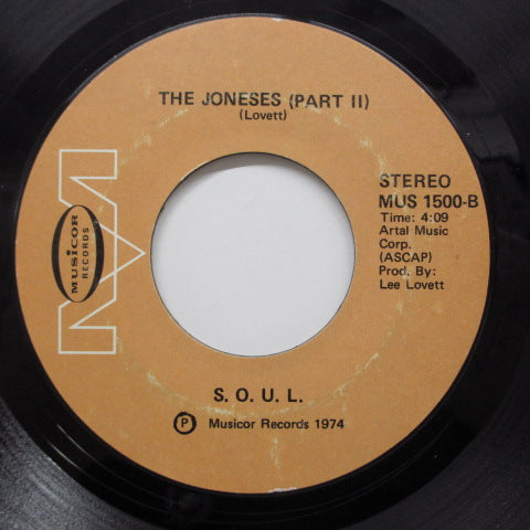 S.O.U.L.(Sounds Of Unity and Love) - The Joneses (Part.1 & 2) (Orig)