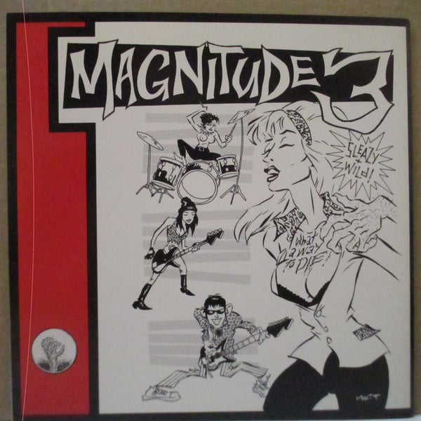 "MAGNITUDE 3 - What A Way To Die (OZ Promo.Black Vinyl 7""+PS)"