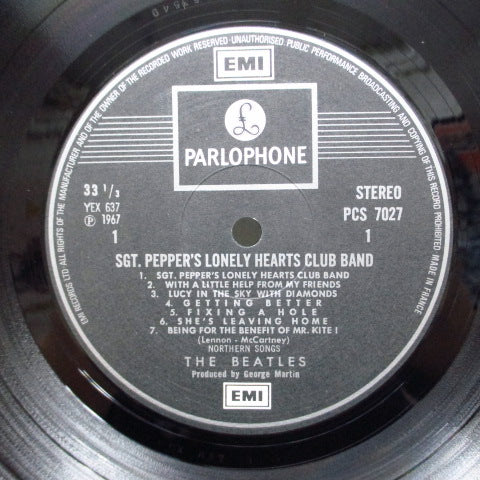 BEATLES - Sgt.Peppers Lonely Hearts Club Band (UK-FRANCE 2xEMI Stereo/Export?)