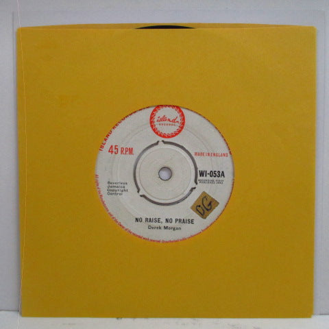"DERRICK MORGAN (DEREK MORGAN) - No Raise, No Praise / Loving Baby (UK Orig.7"")"