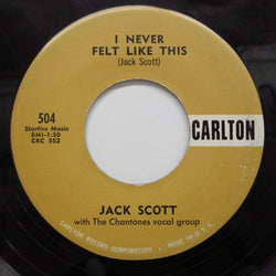 JACK SCOTT - I Never Felt Like This / Bella (Orig)