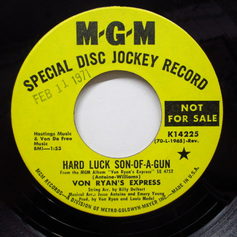VON RYAN' S EXPRESS - Hard Luck Son-Of-A-Gun (Promo)