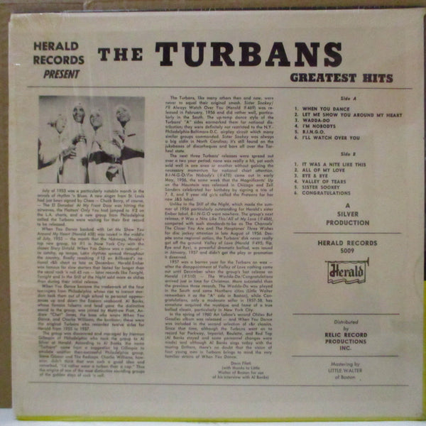 TURBANS (ターバンズ)  - Greatest Hits (US 80's LP/Herald 5009)