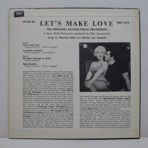 MARILYN MONROE - O.S.T./ Let's Make Love (UK Orig.EP/CFS)