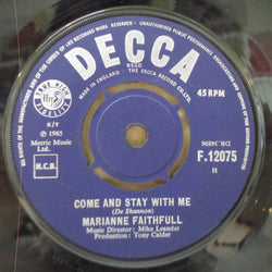 "MARIANNE FAITHFULL - Come And Stay With Me (UK Orig.7"")"