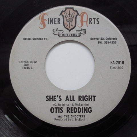 OTIS REDDING & THE SHOOTERS - She's All Right ('67 Reissue Finer-2016)