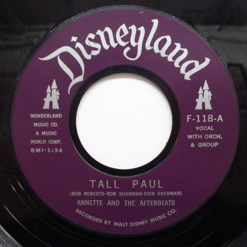 ANNETTE - Tall Paul  (Plastic Label)