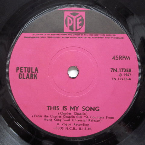PETULA CLARK - This Is My Song (UK Orig/Flat Center)