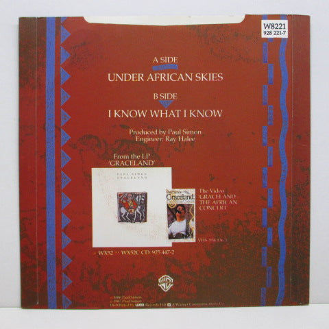 PAUL SIMON  - Under African Skies (UK Orig+PS)
