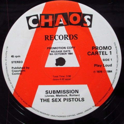 "SEX PISTOLS - Submission (UK Promo 12"")"