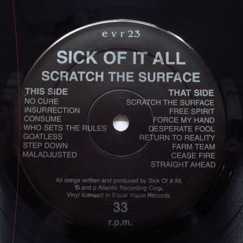 SICK OF IT ALL - Scratch The Surface (US Orig.Black Vinyl LP)