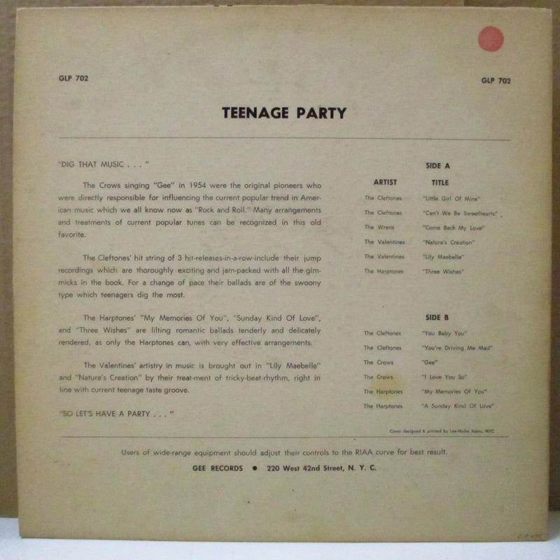 V.A. - Teenage Party (US Orig.Mono LP)