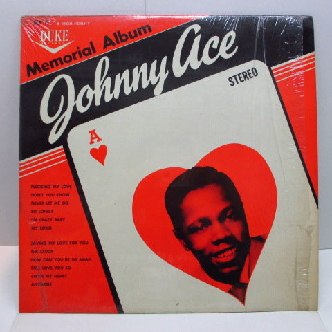 JOHNNY ACE - Memorial Album For Johnny Ace (US '61 Re Stereo LP/Stereo Print Matt CVR)