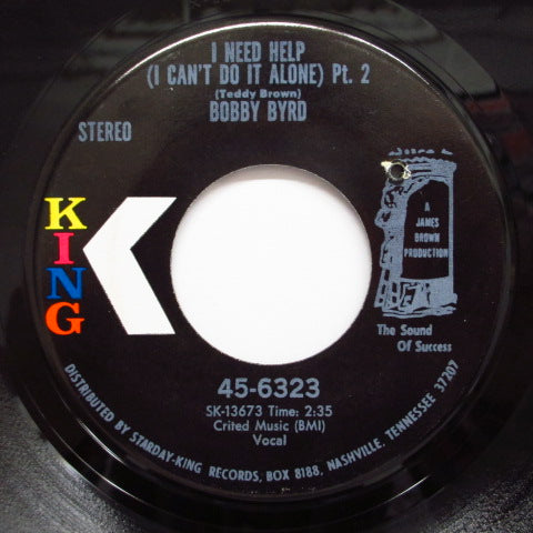 BOBBY BYRD - I Need Help (I Can't Do It Alone) [Part 1&2] (Color Logo Orig.)