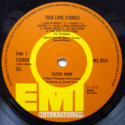 JILTED JOHN - True Love Stories (UK Orig.LP+Boardgame)