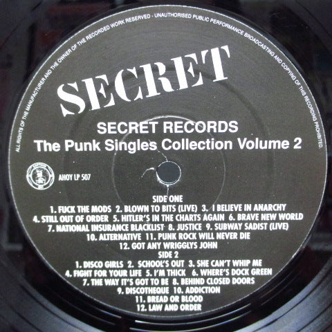 V.A. - Secret The Punk Singles Collection Vol.2 (UK Orig.LP)