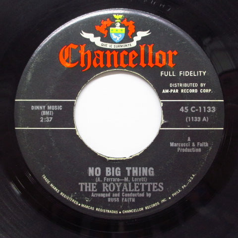 ROYALETTES - No Big Thing (Orig)
