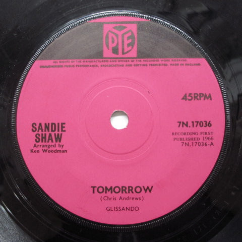 SANDIE SHAW - Tomorrow (UK Orig.Flat Center)