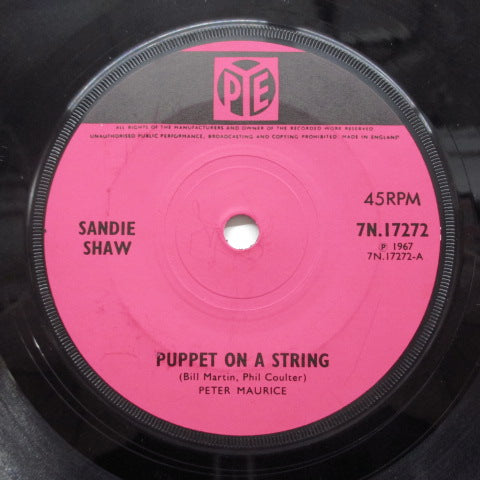SANDIE SHAW - Puppet On A String (UK Orig.Flat Center)