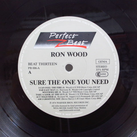 RON WOOD (RONNIE WOOD) - Sure The One You Need (GERMAN RE Marble Color Vinyl 2xLP)