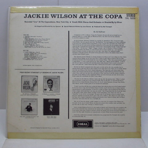 JACKIE WILSON - At The Copa (UK Orig.Stereo LP/CFS)
