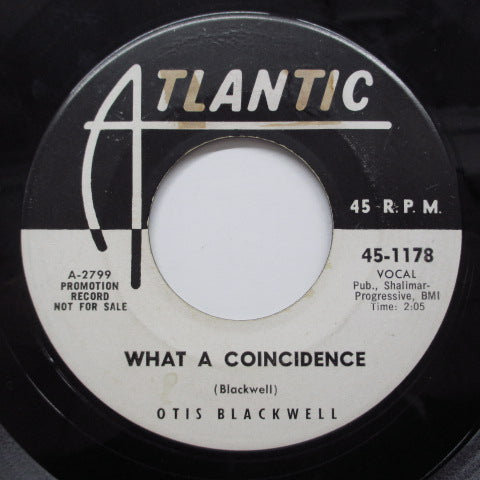 OTIS BLACKWELL - What A Coincidence (US Promo)