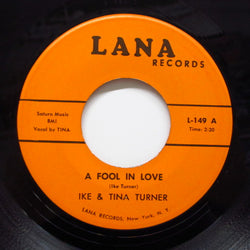 IKE & TINA TURNER - A Fool In Love (70's Reissue)