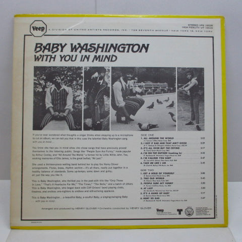 BABY WASHINGTON - With You In Mind (US Orig.Stereo LP)