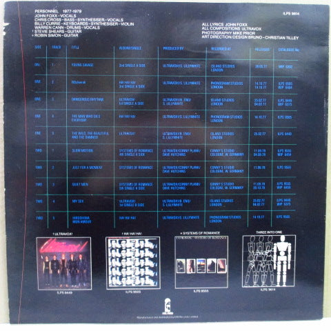 ULTRAVOX-Three Into One (UK 80's Reissue LP / Color Lbl.)