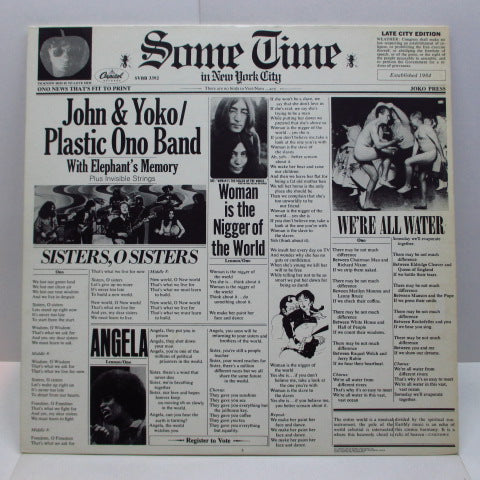 JOHN LENNON - Sometime In New York City (US '80 Re 2xLP)