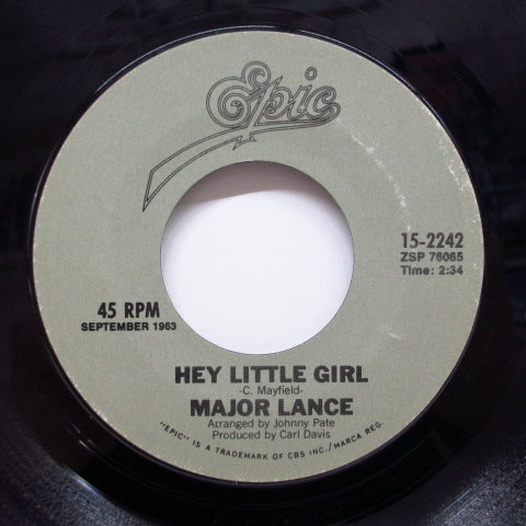 MAJOR LANCE - Hey Little Girl / The Matador (80's Reissue)