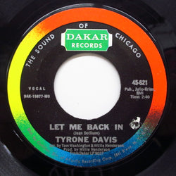 TYRONE DAVIS - Let Me Back In (Orig)