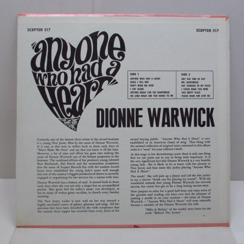 DIONNE WARWICK (DIONNE WARWICKE) - Anyone Who Had A Heart (US Orig.STEREO)