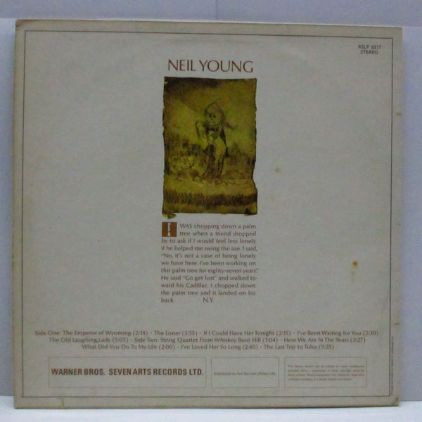 NEIL YOUNG - Neil Young (1st) (UK '69 2nd Press LP/No Name CS)