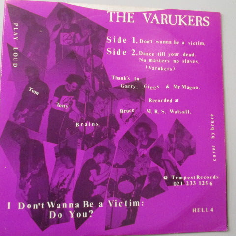 "VARUKERS, THE - I Don't Wanna Be A Victim! (UK Re 7"")"