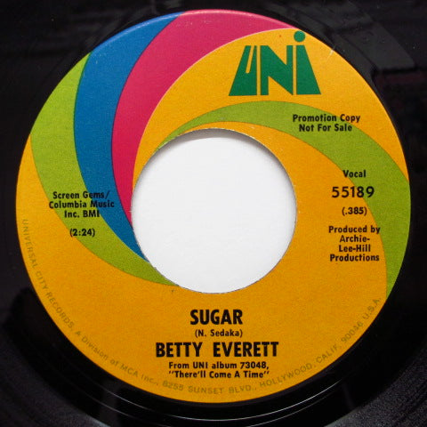 BETTY EVERETT - Sugar (Promo)
